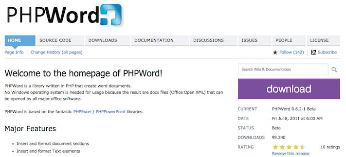 phpword